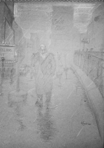 walkin in the p rain